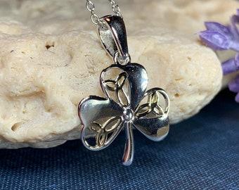 Trinity Knot Necklace, Shamrock Necklace, Irish Jewelry, Clover Jewelry, Celtic Knot Jewelry, Irish Gift, Anniversary Gift, Celtic Jewelry