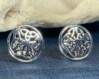 Celtic Knot Earrings, Irish Jewelry, Celtic Jewelry, Anniversary Gift, Bridal Jewelry, Norse Jewelry, Yoga Jewelry, Wiccan Jewelry