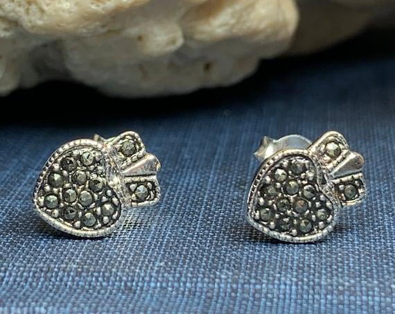 Claddagh Stud Earrings, Celtic Jewelry, Irish Jewelry, Celtic Knot Jewelry, Heart Jewelry, Anniversary Gift, Graduation Gift, Mom Gift