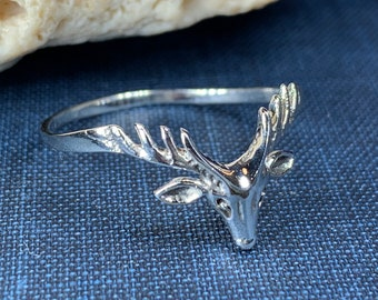 Stag Ring, Scotland Jewelry, Scottish Stag, Hunter Gift, Nature Jewelry, Pagan Jewelry, Wiccan Jewelry, Animal Jewelry, Deer Ring