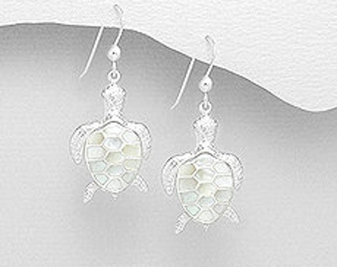 Turtle Sterling Earrings, Easter, Graduation, Anniversary, Birthday for Her, Sister, Mother, Mom, Daughter, Girlfriend, Wife