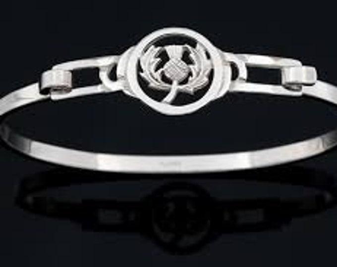 Thistle Bracelet, Celtic Jewelry, Scotland Jewelry, Outlander Jewelry, Bridal Jewelry, Girlfriend Gift, Wife Gift, Wiccan Jewelry