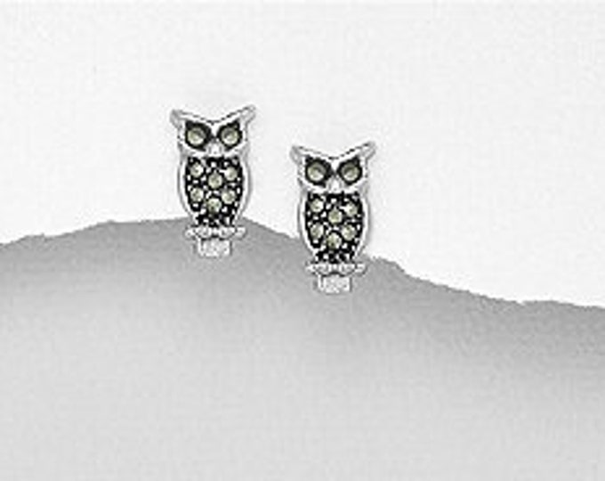 Owl Earrings, Bird Jewelry, Wiccan Jewelry, Teacher Gift, Gift for Her, Stud Earring, Nature Jewelry, Animal Jewelry, Cute Earrings