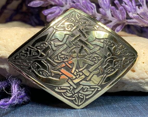 Celtic Knot Brooch, Celtic Jewelry, Irish Brooch, Celtic Pin, Friendship Gift, Scotland Jewelry, Norse Jewelry, Celtic Knot Pin, Mom Gift
