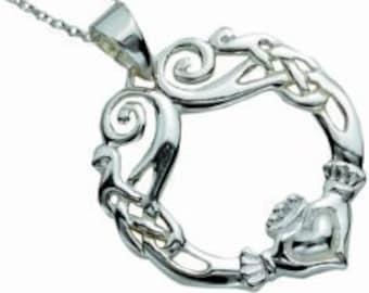 Claddagh Necklace, Celtic Jewelry, Mom Gift, Irish Dance Gift, Friend Gift, Anniversary Gift, Girlfriend Gift, Ireland Jewelry, Wife Gift