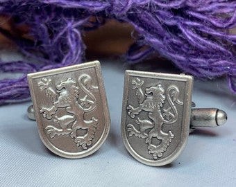 Lion of Scotland Cuff Links, Lion Jewelry, Animal Jewelry, Scotland Jewelry, Celtic Jewelry, Groom Gift, Best Man Gift, Anniversary Gift