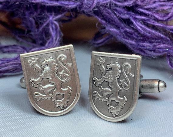 Lion of Scotland Cuff Links, Lion Jewelry, Animal Jewelry, Scotland Jewelry, Celtic Jewelry, Groom Gift, Best Man Gift, Anniversary Gift