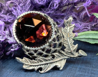 Thistle Pin, Celtic Jewelry, Scotland Jewelry, Celtic Brooch, Outlander Jewelry, Kilt Pin, Celtic Pin, Flower Brooch, Friendship Gift