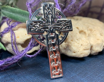 Celtic Cross Necklace, Celtic Jewelry, Irish Jewelry, Anniversary Gift, Communion Gift, Baptism Gift, Religious Jewelry, Scotland Cross