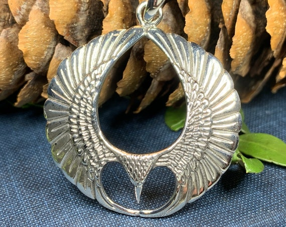 Eagle Wings Necklace, Celtic Jewelry, Eagle Jewelry, Friendship Gift, Graduation Gift, Anniversary Gift, Pagan Necklace, Nature Jewelry