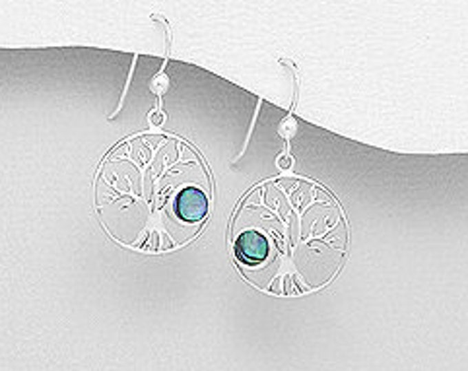 Tree of Life Earrings, Celtic Jewelry, Norse Jewelry, Yoga Jewelry, Anniversary Gift, Sister Gift, Graduation Gift, Sympathy Gift