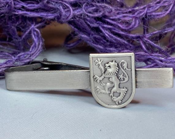 Scotland Lion Tie Bar, Dad Gift, Scotland Jewelry, Celtic Jewelry, Men's Jewelry, Groom Gift, Best Man Gift, Celtic Tie Clip, Ireland