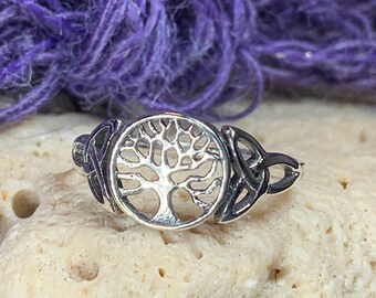 Tree of Life Ring, Celtic Jewelry, Irish Jewelry, Norse Jewelry, Celtic Knot Ring, Anniversary Gift, Wiccan Jewelry, Trinity Knot Ring