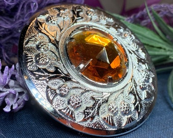 Celtic Brooch, Celtic Jewelry, Scotland Jewelry, Thistle Jewelry, Anniversary Gift, Outlander Jewelry, Kilt Pin, Tartan Pin, Scotland Brooch
