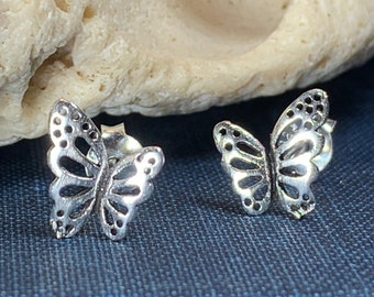 Butterfly Earrings, Nature Jewelry, Insect Jewelry, Graduation Gift, Stud Earrings, Mom Gift, Sister Gift, Woodland Jewelry