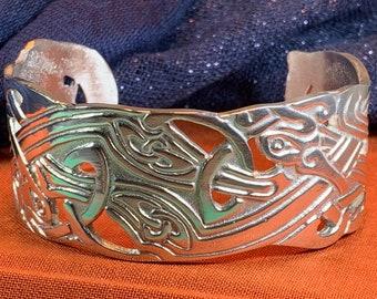 Celtic Knot Pewter Bracelet, Celtic Jewelry, Bangle Bracelet, Scotland Jewelry, Ireland Jewelry, Wife Gift, Girlfriend Gift, Viking Jewelry