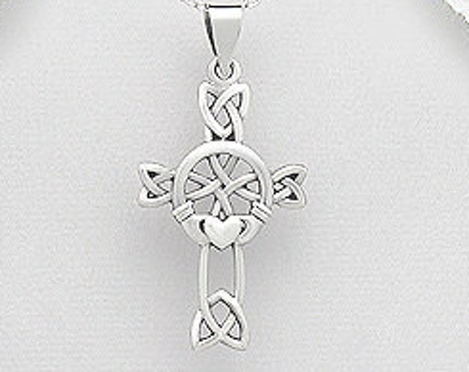 Claddagh Celtic Cross, Easter Gift, First Communion, Mother's Day, Anniversary, Gift for Her, Bridal Cross, Girlfriend, Best Friend, Ireland