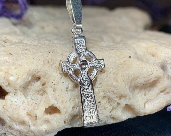 Celtic Cross Necklace, Irish Jewelry, Celtic Jewelry, Ireland Gift, Anniversary Gift, Religious Jewelry, First Communion Gift, Baptism Cross