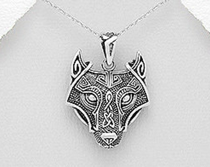 Viking Wolf Necklace, Gift for Him, Norse, Pagan, Viking, Celtic Knot, Father's Day, Graduation, Birthday, Dad, Boyfriend, Warrior