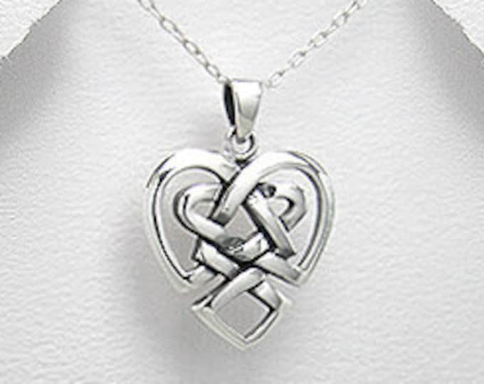 Love Knot Necklace, Celtic Jewelry, Bridal Jewelry, Mom Gift, Graduation Gift, Wedding Jewelry, Anniversary Gift, Wife Gift, Girlfriend Gift