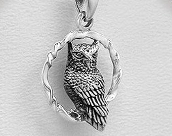 Owl Necklace, Celtic Jewelry, Nature Jewelry, Bird Necklace, Bird Lover Gift, Wiccan Jewelry, Woodland Jewelry, Mom Gift, Wife Gift
