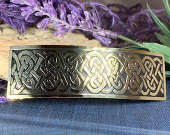 Celtic Knot Hair Clip, Celtic Barrette, Irish Jewelry, Celtic Hair Slide, Friendship Gift, Scotland Jewelry, Norse Jewelry, Celtic Barrette