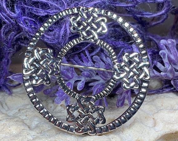 Celtic Knot Brooch, Celtic Jewelry, Irish Jewelry, Scotland Brooch, Celtic Brooch, Anniversary Gift, Celtic Knot Pin, Ireland Gift, Mom Gift