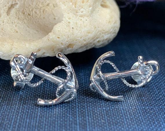 Anchor Earrings, Nautical Earrings, Ship Jewelry, Inspirational Gift, Friendship Gift, Encouragement Gift, Sea Jewelry, Ocean Jewelry