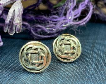 Celtic Knot Stud Earrings, Irish Jewelry, Celtic Jewelry, Anniversary Gift, Bridal Jewelry, Norse Jewelry, Yoga Jewelry, Wiccan Jewelry