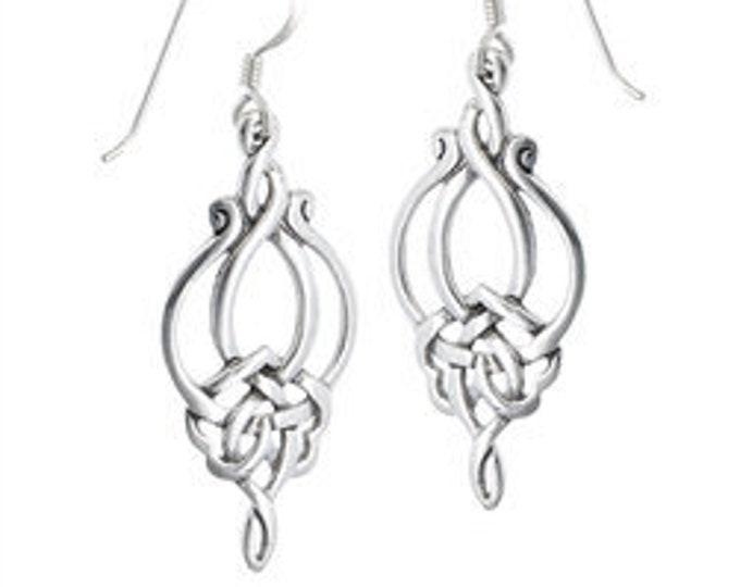 Celtic Goddess Irish Sterling Silver Earrings