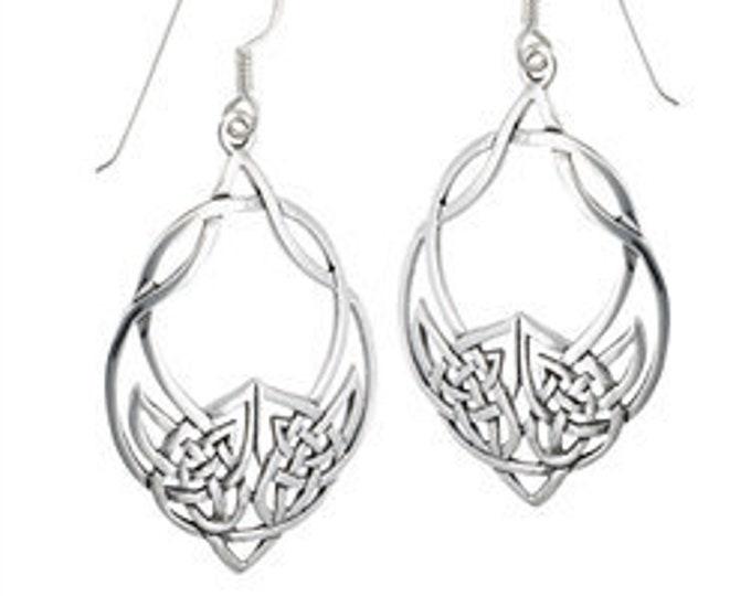Celtic Weave Irish Sterling Silver Earrings