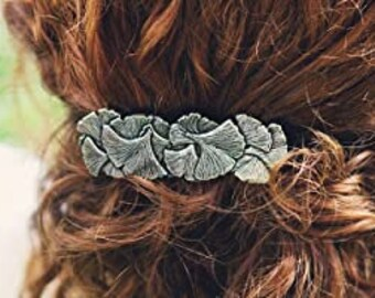 Gingko Leaf Hair Clip, Celtic Barrette, Tree Jewelry, Pagan Jewelry, Friendship Gift, Wiccan Jewelry, Leaf Clipry, Nature Barrette, Oak Tree