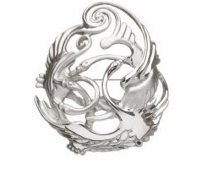 Children of Lir Brooch, Swan Brooch, Celtic Jewelry, New Mom Gift, Gift for Her, Swan Jewelry, Celtic Pin, New Mom Gift, Nature Jewelry