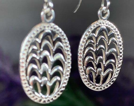 Celtic Knot Earrings, Celtic Jewelry, Irish Jewelry, Scotland Jewelry, Celtic Wave Jewelry, Pagan Jewelry, Bridal Jewelry, Anniversary Gift