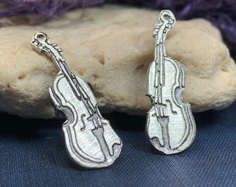 Irish Fiddle Celtic Earrings, Celtic Music, Violin Jewelry, Musician Gift, Silver Violin, Orchestra, Music Teacher Gift, Orchestra Jewelry