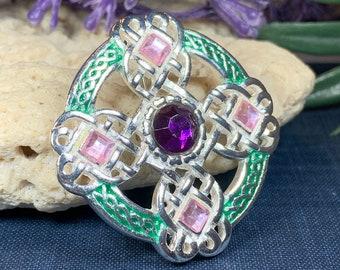 Celtic Brooch, Irish Dance Gift, Irish Jewelry, Tara Brooch, Celtic Pin, Ireland Gift, Mom Gift, Sister Gift, Celtic Cross Pin, Scarf Pin