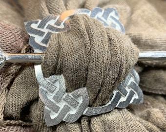 Celtic Scarf Ring, Scotland Jewelry, Irish Jewelry, Celtic Jewelry, Outlander Jewelry, Mom Gift, Wife Gift, Sister Gift, Scarf Slide