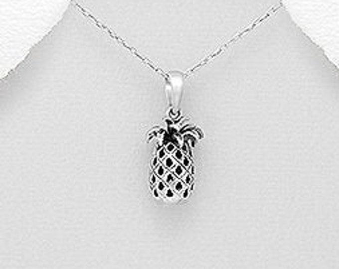 Pineapple Necklace, Beach Jewelry, Hawaii Jewelry, Fruit Necklace, Summer Jewelry, Anniversary Gift, Inspirational Jewelry, Sweet 16 Gift