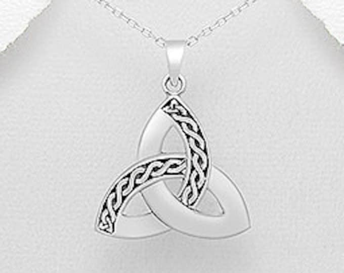 Trinity Knot Necklace, Celtic Jewelry, Triquetra Pendant, Friendship Gift, Norse Jewelry, Anniversary Gift, Wiccan Jewelry, Pagan Pendant