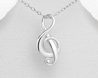 Music Necklace, Music Note Jewelry, Gift for Her, Theater Jewelry, Orchestra Gift, Band Jewelry, Music Teacher Gift, Chorus Gift, Choir Gift