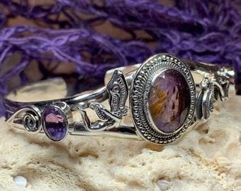 Celtic Goddess Bracelet, Celtic Jewelry, Amethyst Jewelry, Wiccan Jewelry, Pagan Jewelry, Anniversary Gift, Graduation Gift, Wife Gift