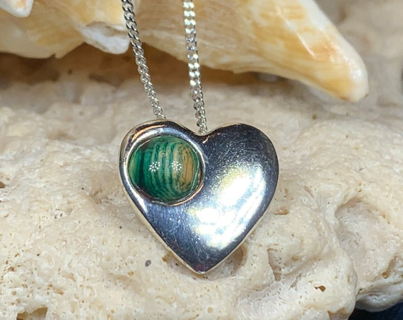 Scottish Heart Necklace, Heather Gem, Gift for Her, Heart Pendant, Friendship Gift, Celtic Jewelry, Scotland Jewelry, Graduation Gift