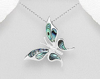 Butterfly Necklace, Abalone Jewelry, Nature Jewelry, Summer Jewelry, New Beginning, Gift for Her, Anniversary Gift, Graduation Gift