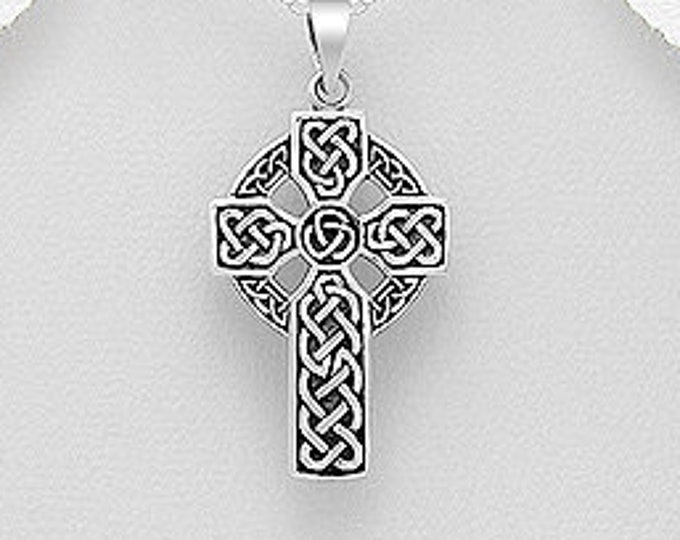 Celtic Cross, Cross Necklace, Irish Cross, Anniversary Gift, Gift for Her, First Communion Cross, Baptism Cross, Religious Jewelry