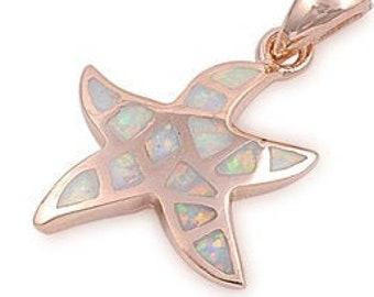 Starfish Necklace, Nautical Jewelry, Opal Jewelry, Christian Jewelry, Sea Star Necklace, Animal Jewelry, Nature Necklace, Beach Jewelry