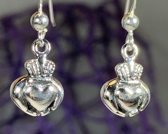 Claddagh Earrings, Celtic Jewelry, Irish Jewelry, Celtic Knot Jewelry, Heart Jewelry, Anniversary Gift, Graduation Gift, Wife Gift, Mom Gift