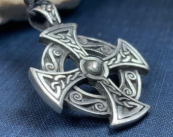 Celtic Cross Necklace, Ireland Gift, Irish Jewelry, Destiny Knot Cross, Scotland Jewelry, Celtic Jewelry, Cross Necklace, Celtic Knot Gift