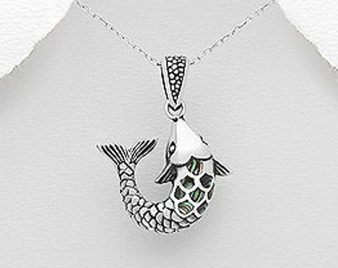 Salmon of Knowledge Necklace, Celtic Jewelry, Graduation Gift, Teacher Gift, Irish Myth, Fish Jewelry, Gift for Her, Celtic Knot