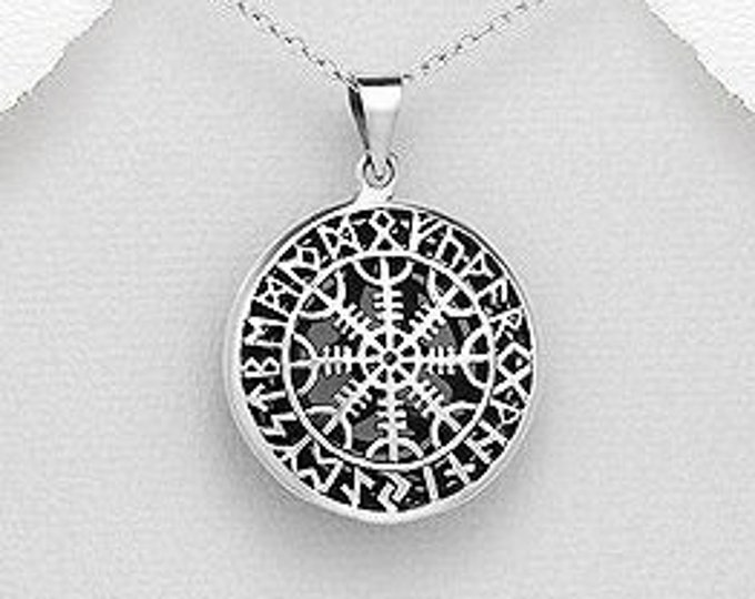 Viking Vegvisir Necklace, Valknut Jewelry, Viking Jewelry, Gift for Him, Norse Jewelry,  Pagan, Viking, Celtic Knot,