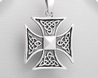 Viking Cross Necklace, Celtic Cross, Norse Jewelry, Pagan, Viking, Celtic Knot, Father's Day, Graduation, Birthday, Dad, Boyfriend, Warrior